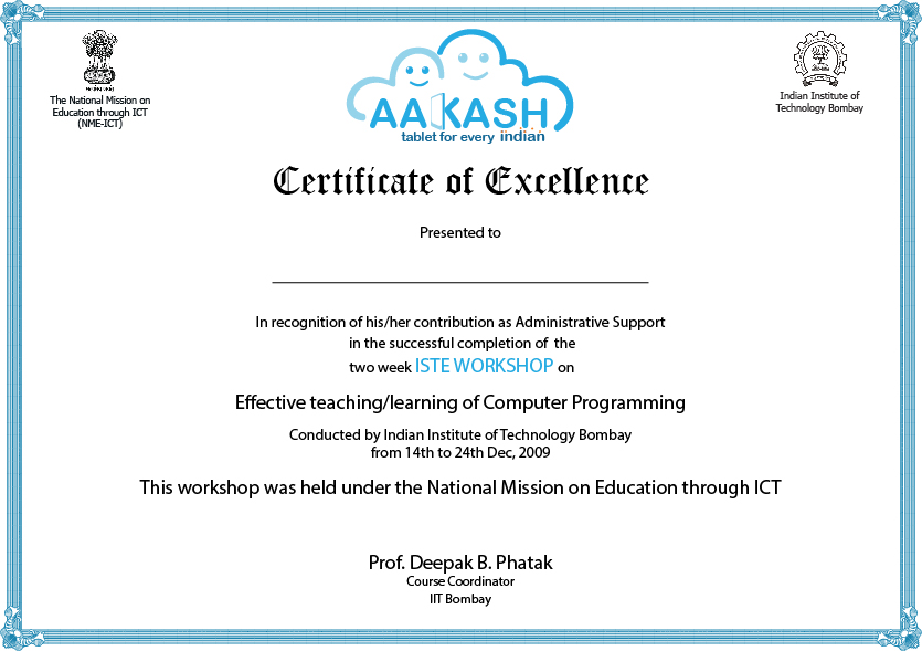 template for certificate of participation in workshop - design